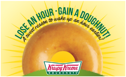 Post image for Lose An Hour, Get a FREE Doughnut (March 9th)