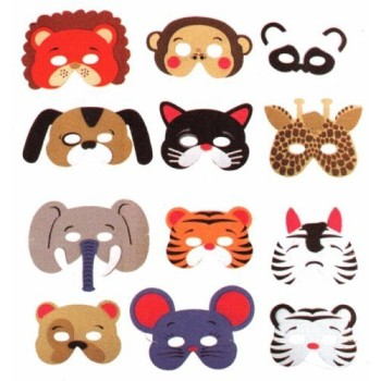 Post image for Amazon-12 Assorted Foam Animal Masks $5.25