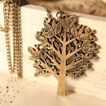 Post image for Amazon-Vintage bird tree letter necklace $1.88 Shipped