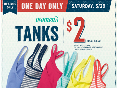 Post image for Old Navy: Tank Tops for $2