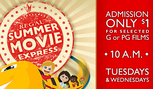 Post image for Regal Summer Movies