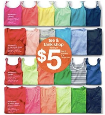 Post image for Target: $3.15 Merona & Mossimo T-Shirts, Tanks & Camis