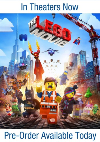 Post image for PREORDER NOW: The LEGO Movie (DVD + UltraViolet Combo Pack) $14.96