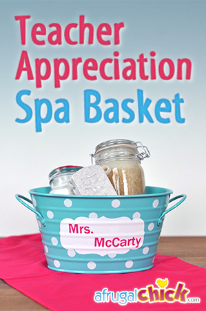 Teacher Appreciation Spa Basket