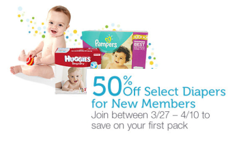 Post image for New Amazon Mom Members Get 50% Off Select Diapers- Ends Today