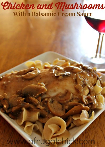 Post image for Chicken with Mushroom Sauce Recipe