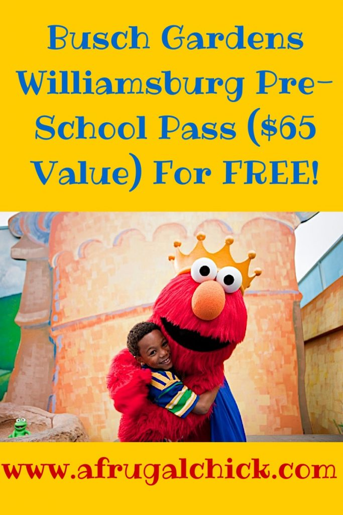 Busch Gardens Williamsburg PreSchool Pass