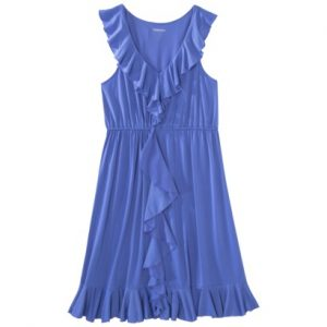 Merona® Women's Cascade Ruffle Front Dress