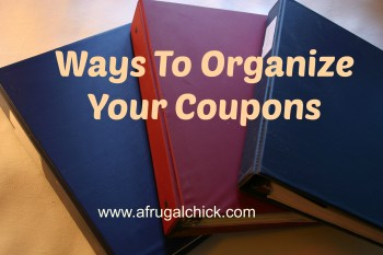 Ways To Organize Your Coupons Sidebar