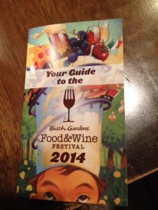 busch gardens food and wine directory