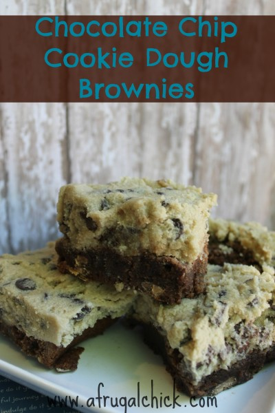 Post image for Cookie Dough Brownie Recipe