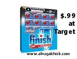 Post image for Target: Finish Power & Free Powerball Dishwashing Tabs $.99
