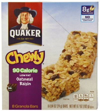 Post image for Amazon: Quaker Oatmeal Raisin Chewy Granola Bars $.17 Each Shipped