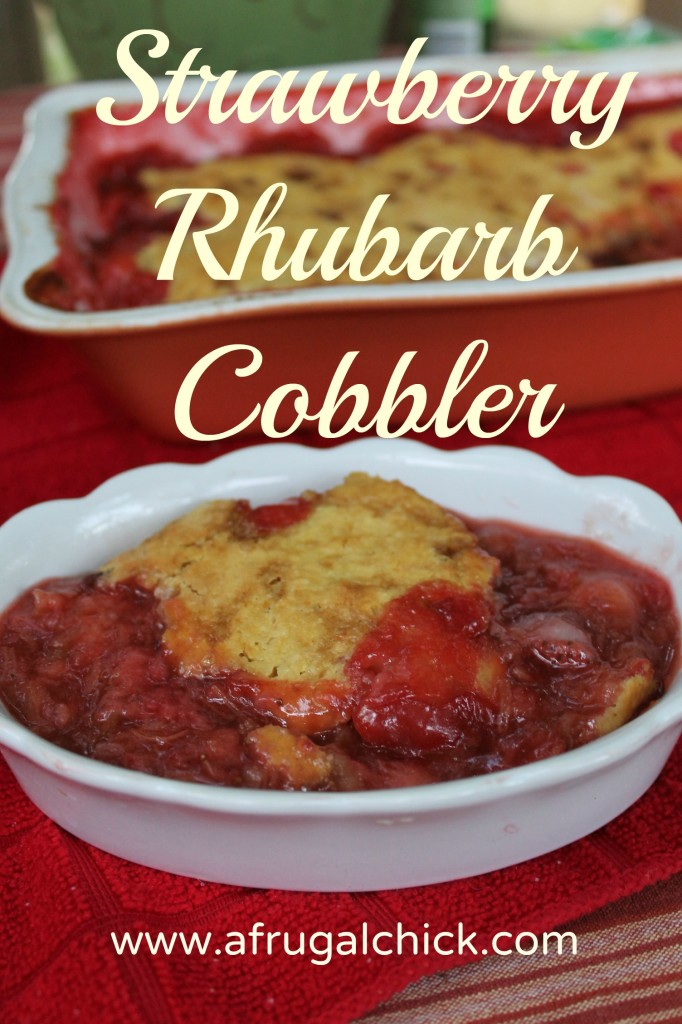 strawberry rhubarb cobbler pinterest