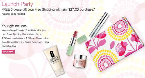 Post image for Clinique: FREE Shipping On Any Order (Free Gift Time Too!)