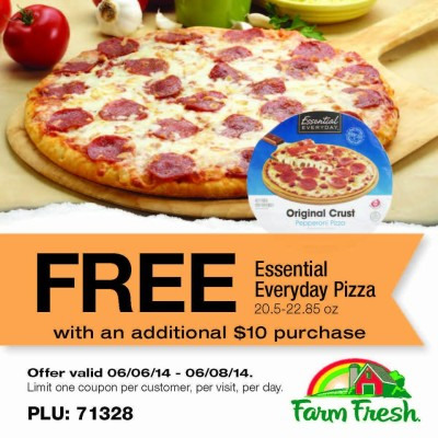 Post image for Farm Fresh Supermarkets: Free Pizza With $10 Purchase
