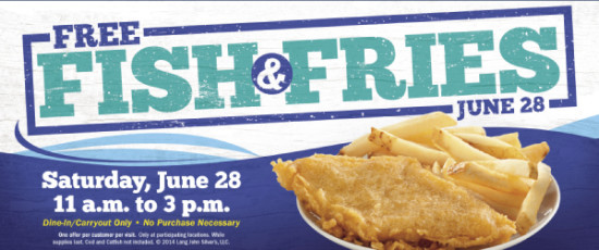 Post image for Long John Silver's: Free Fish Meal on June 28th