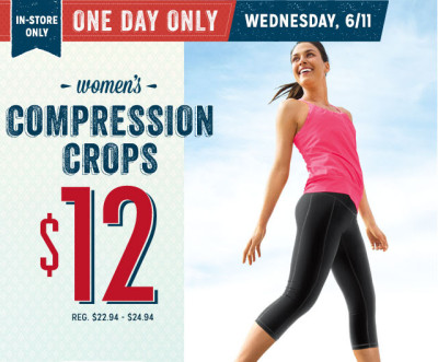 Post image for Old Navy: $12 Women's Active Crop Pants Today Only