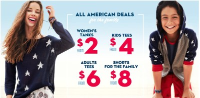 Post image for Old Navy: Women's Tank Tops $2, Kid's T-Shirts $4 and More!