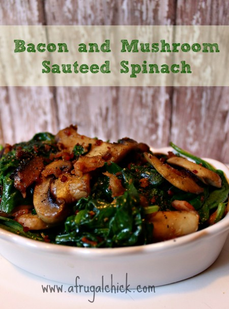 Post image for Warm Spinach Salad With Bacon and Mushroom