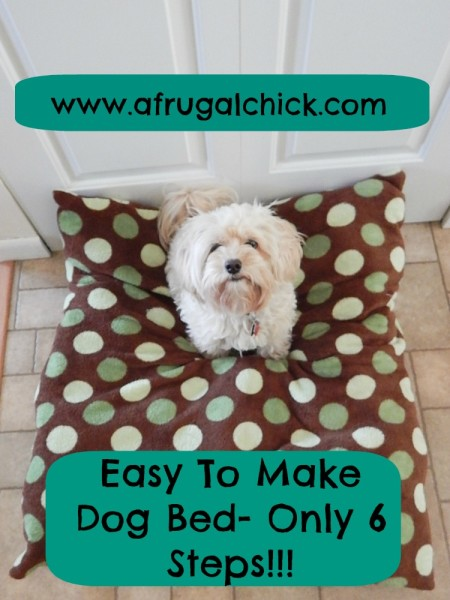 Build A Dog Bed Pinterest