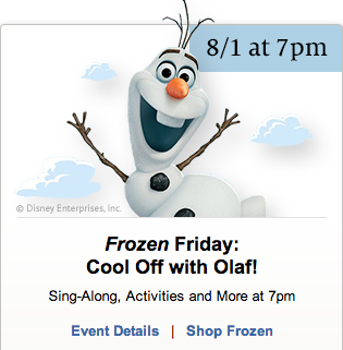 Post image for Barnes and Noble: FREE Frozen Event August 1st