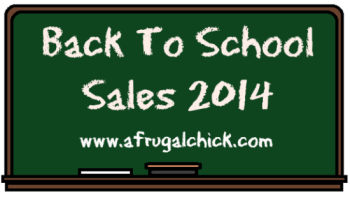 Post image for Back To School Sales 2014