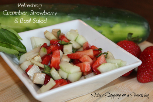 cucumber strawberry basil salad