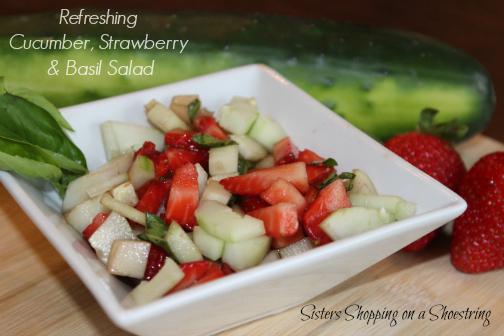 cucumber strawberry basil salad