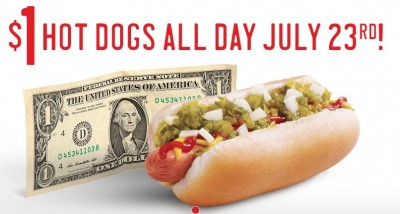 Post image for Sonic July 23rd: $1 Hot Dogs & Chili Cheese Coneys