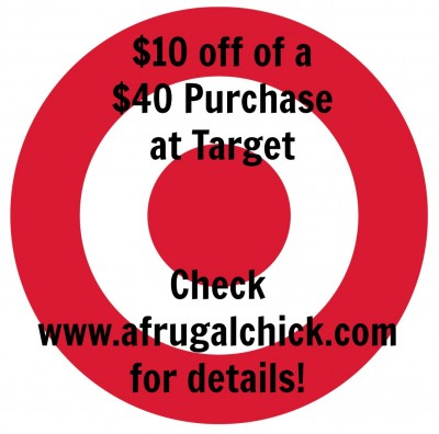 Post image for Target: $10 off of $40 Purchase