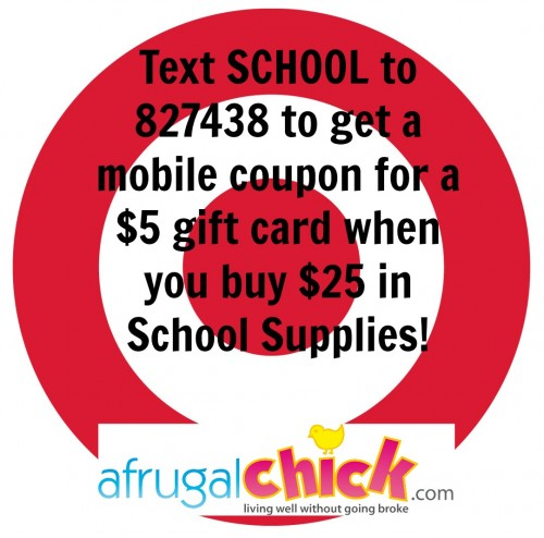 Post image for Target: Free $5 Target Gift Card With $25 School Supply Purchase