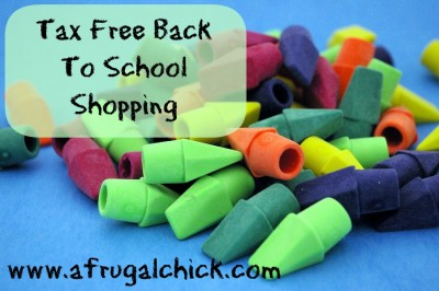 Post image for Tax Free Shopping For School