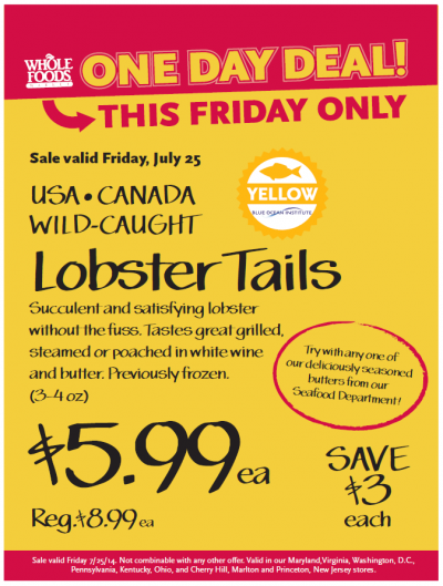 Post image for Whole Foods Mid-Atlantic Region: $5.99 Lobster Tails