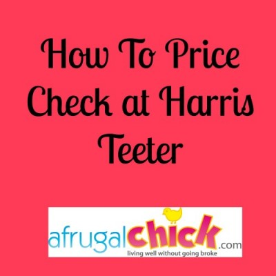 Post image for How To Check Prices On-line For Harris Teeter