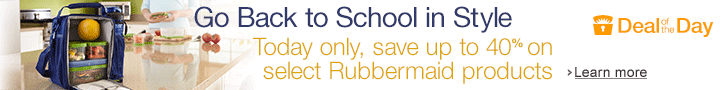 Post image for Select Rubbermaid Products Up To 40% Off(Today Only)