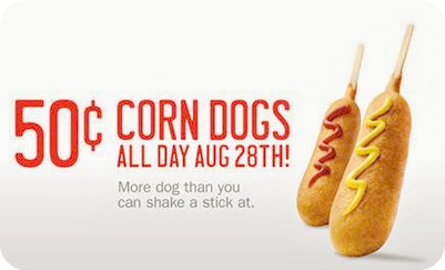 Post image for Sonic: $.50 Corn Dogs (8/28 Only)