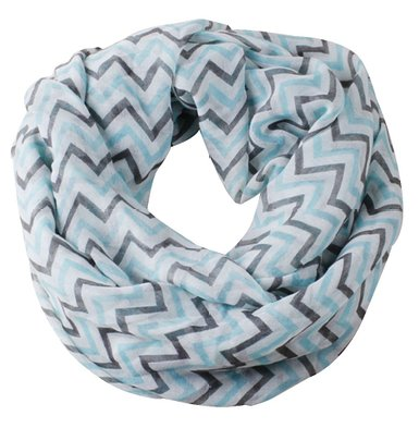 Soft Warp Knitting Voile Chevron Sheer Infinity Scarf