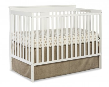 Post image for Amazon-Stork Craft Mission Ridge Fixed Side Convertible Crib, White $89.00