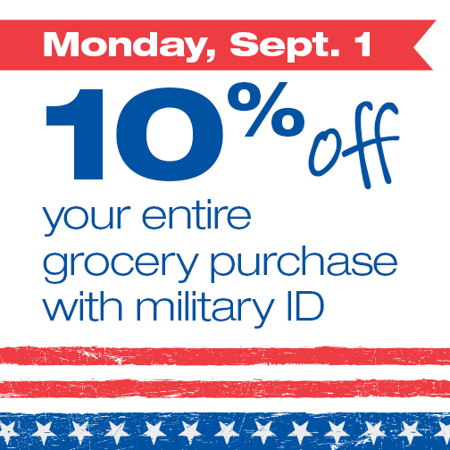 Post image for Farm Fresh Supermarkets: Military Extra 10% Off Labor Day 2014