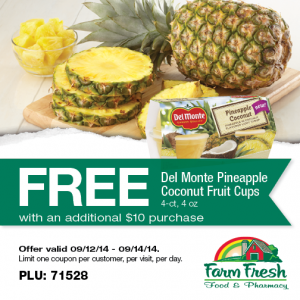 farm fresh supermarket pineapple
