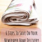 6 Steps To Save On Your Newspaper Home
