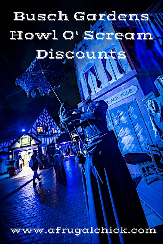Coupons for Busch Gardens Howl O' Scream