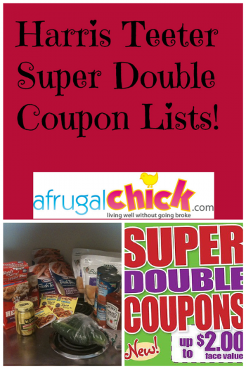 Harris Teeter Super Double Coupon Lists Sidebar