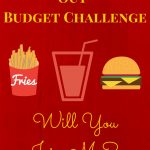 no eating out budget challenge