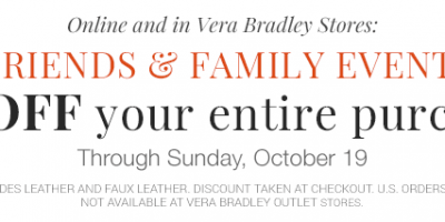 vera bradley friends and family event