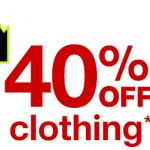 40 off clothes target