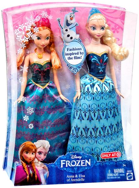 Disney Frozen Anna and Elsa of Arendelle 2-Pack of Dolls