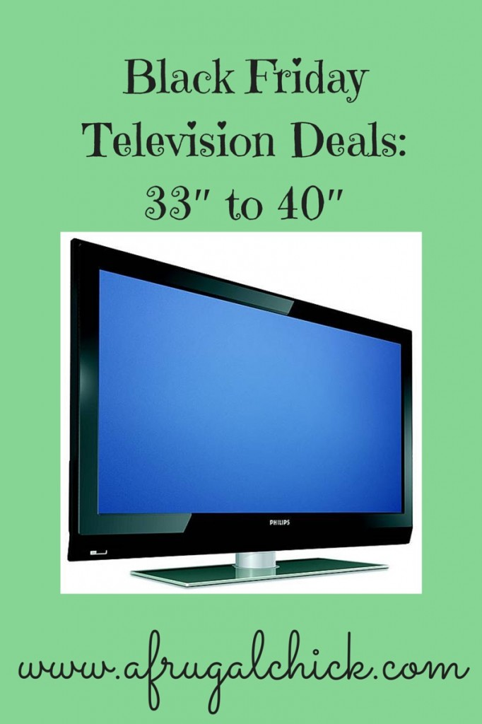 Black Friday Television Deals: 33″ to 40″