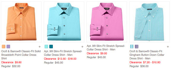 8137dcd383d4d3 Kohls.com  Men s Dress Shirts As Low As  7.20